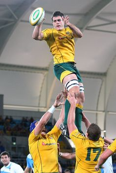 Dave Dennis takes the lineout during the Rugby Championship match between the Australian Wallabies and Argentina at Skilled Park on September 15, 2012 on the Gold Coast, Australia.
