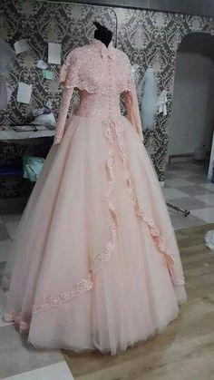 PINTEREST: @MUSKAZJAHAN - Prom Dresses Long Pink, Ball Dresses, Pretty Dresses, Pink Dress, Beautiful Dresses, Evening Dresses, Girls Dresses, Muslimah Wedding Dress, Muslim Wedding Dresses