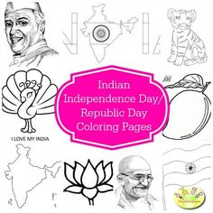 Indian Independence day colouring pages