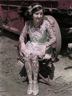 Vintage Stella Grassman Color Photo Print – Yellow Beak Press - Tattoo History Books, Prints, & Apparel