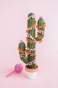This easy DIY cactus Christmas tree is a fun play off of the traditional holiday decor. It's perfect for warm weather lovers and won't prick you! Cactus Christmas Trees, Little Christmas Trees, Diy Christmas Tree, Modern Christmas, Christmas Holidays, Outdoor Christmas, Christmas Ornaments, Winter Holiday, Christmas Design