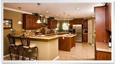 Amazing kitchen in a manufactured home