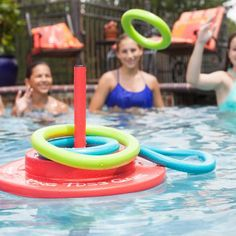 Texas Recreation Super Soft Ring Toss Game - Swimming Pool Games & Toys at Hayneedle Outdoor Games For Toddlers, Pool Floats For Kids, Horseshoe Game, Swimming Pool Games, Pool Fun, Pool Party Games, Pool Parties, Luau Party, Ring Toss