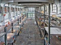 #Event #Hochseilgarten #Stuttgart #Indoor #Outdoor HOCHWERK Marbach bei Stuttgart: Das ehemalige Kesselhaus - Die Dimensionen der Halle. Das Bild zeigt den Zustand vor den Installationen.