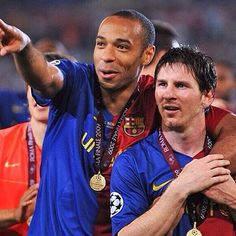 Henry and Messi  Fc Barcelona