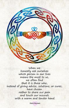 Love And Friendship Art By Sharon Cummings by Sharon Cummings Symbols And Meanings, Celtic Symbols, Celtic Art, Irish Symbols, Celtic Dragon, Celtic Knots, Friendship Art, Friendship Sayings, Love Quotes