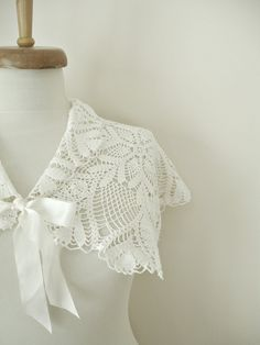 Items similar to Bridal Shrug Capelet With Vintage Doilies, in Ivory Color Handcrocheted on Etsy Bridal Shrug, Shrugs And Boleros, Cloaks, Bolero Jacket, Capelet, Crochet Clothes, Unique Weddings, Doilies, Shawls