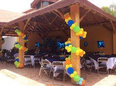 Pilares con globos Balloon Designs, Balloon Ideas, Balloon Decorations, Birthday Celebration, Birthday Parties, Diy Birthday Decorations, Paw Patrol Birthday, Outdoor Parties, Dad Birthday