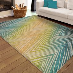 Shop for Carolina Weavers Indoor/Outdoor Santa Barbara Collection Odle Zig Zag Multi Area Rug x - x Get free delivery On EVERYTHING* Overstock - Your Online Home Decor Store! Get in rewards with Club O! Chevron Rugs, Furniture Scratches, Visual Texture, Indoor Outdoor Area Rugs, Outdoor Living, Outdoor Benches, Modern Area Rugs, Cool Rugs, Geometric Patterns