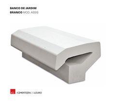 Veja como ficou! Montijo Banco de Jardim - Branco  Mod. Assis -- Take a look! Montijo Park bench - White  Mod. Assis