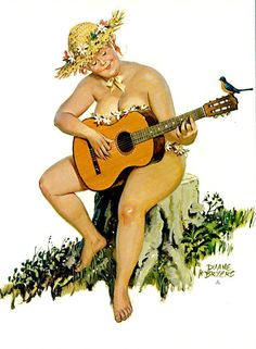 Hilda plays the guitar