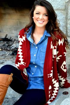 Country Chic! Southwest sweater.