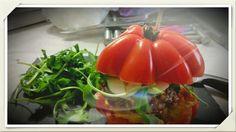 Hamburger Tomate Mozza Basilic et Roquette ...