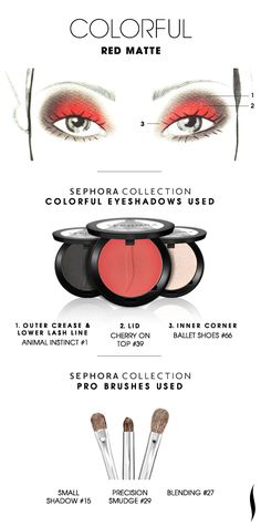 COLORFUL: Red Matte HOW TO. #sephora #sephoracollection  #eyeshadow #SephoraSweeps