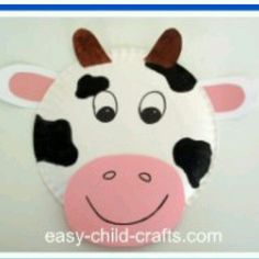 CraftsActvities and Worksheets for PreschoolToddler and Kindergarten.Free printables and activity pages for free.Lots of worksheets and coloring pages. & Paper Plate Cow u2026 | paper plu2026