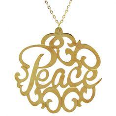 Peace Necklace.