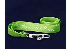 Find the Cure Lime Green Ribbon Lanyard - (LAN-9F)
