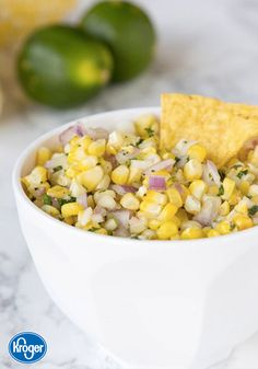 Your end of summer party wouldn't be complete without a festive and delicious appetizer idea. That's why this recipe for Grilled Corn Salsa from Inspired Gathering makes the perfect flavorful addition to your menu.