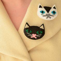 Unique kitten badges, made by Be-Bop-A-Lu-La