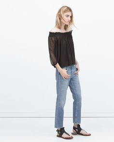 Image 1 of OFF-SHOULDER TOP from Zara