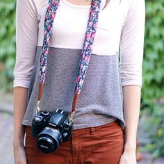 See how to make this camera strap made from a super soft floral scarves. (via The House That Lars Built)