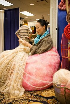 Knitting at Vogue Knitting LIVE Chicago 2013!