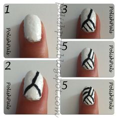 Volley ball nails so trying this