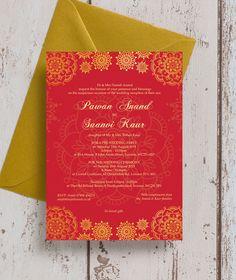 For Asian grandeur wedding invites speaking, would
