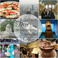 Sample Three Day Itinerary to New York City