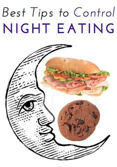 Great expert tips to control overeating in the evening and at night, something dieters and non-dieters both struggle with!