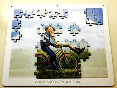 Unique Wedding Guest Book Puzzle from Your Photo - Magnetic and Jigsaw - Alternative Guestbook - Engagement - Gift - Laser Cut by BrainyGames on Etsy Engagement Gifts, Engagement Photos, Sharpie Markers, Wedding Guest Book Alternatives, Wedding 2017, Guestbook, Alternative Wedding, Unique Weddings, Your Photos