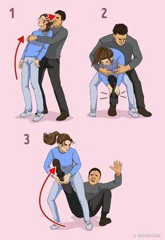 Self defense Cartoon - Self defense Moves Krav Maga - - Survival Skills Self defense Martial Arts - - Survival Life Hacks, Survival Tips, Survival Skills, Outdoor Survival, Techniques D'autodéfense, Self Defense Techniques, Martial Arts Techniques, Krav Maga Techniques, Self Defense Moves