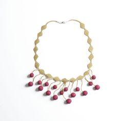 Oya-Kette Kugeln bordeaux (Nadelspitze) Bordeaux, Jewelry, Fashion, Accessories, Schmuck, Chain, Moda, Jewels, Fashion Styles