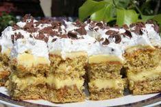 Reteta Prajitura Petre Roman - Prajituri - I Cook Different Sweets Recipes, Cake Recipes, Hungarian Cake, Roman Food, Albanian Recipes, Romanian Desserts, Kolaci I Torte, Recipe Mix, Russian Recipes
