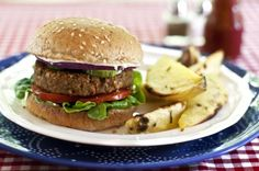 """NUTTY VEGGIE BURGERS  Many veggie burger recipes are too savory. Also, sometimes the patties are too delicate for eating them on a hamburger bun. I made this recipe, which is very nutritious and delicious without being too heavy in herbs or spices. You can serve it with confidence on a burger bun! Try the """"Almonnaise"""" & """"Sunshine Fries w/ Rosemary & Coarse Sea Salt"""" to go with them!"""