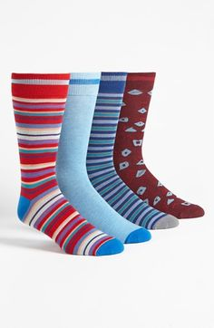 Basic Sock 'Bottoms Out' Pattern Socks (4-Pack) available at #Nordstrom