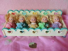 I went through a major Quints period when I was about six years old, though I only remember ever having one set of dolls (and no accessories - luckily though one of the girls down the street did though, so we'd get together and play at her house). #dolls #toys #1990s #retro #nostalgia #childhood #fads #Quints
