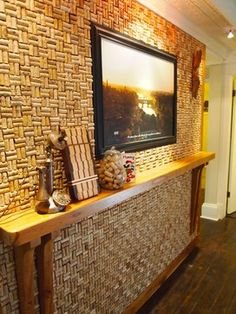 corks on wall pattern   19,474 wine cork wall Home Design Photos