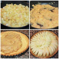Tarta de manzana Francesa - Mis Dulces Joyas Sweet Pie, Charlie Brown, Cupcakes, Nom Nom, Cake Recipes, Deserts, Fruit, Cooking, Food