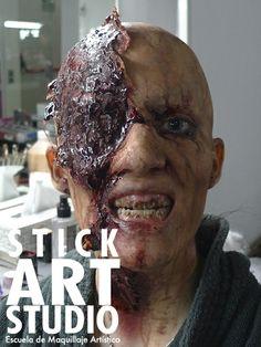 Maquillaje de efectos especiales, realizado por Mar Rodes, maestra de Stick Art Studio en Barcelona
