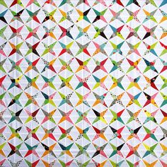 Flea Market Fancy by Red Pepper Quilts. This pattern is called Humming Bird or Periwinkle Dreams