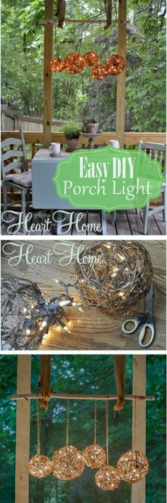 Check out the tutorial on how to make an easy DIY outdoor orb chandelier @istandarddesign