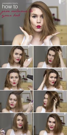 How to give volume to your bob that will last days! ;) http://szepseglabor.blog.hu/