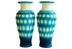 Peking Glass Vases, Pair