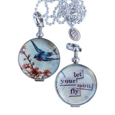 Let Your Spirit Fly Locket from Leoni and Vonk