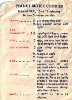 vintage recipes with pictures at DuckDuckGo Cake Candy, Candy Cookies, Cookie Desserts, Yummy Cookies, Cookie Recipes, Retro Recipes, Old Recipes, Cookbook Recipes, Vintage Recipes