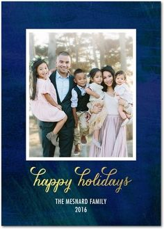 SPLENDID SHINE : 5x7 Gibraltar Flat Holiday Photo Cards with matching address labels by Jill Smith for Baby2Baby for tinyprints.com (multiple trim and paper options available)