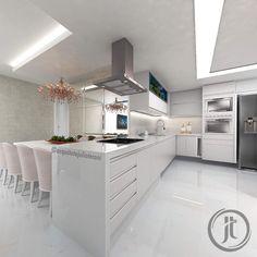 """327 curtidas, 5 comentários - ARQUITETO JULIO TERONI (@arquitetojulioteroni) no Instagram: """"O projeto dessa cozinha teve como ponto de partida o desejo dos proprietários de receber os amigos…"""""""