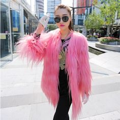 celebrities dressed in goat fur coats or jackets - Google Search
