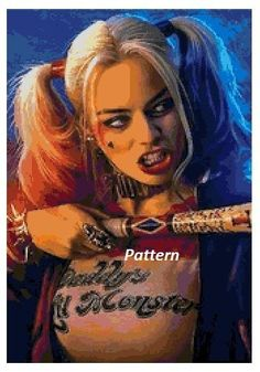 Harley Quinn. Cross Stitch Pattern Or Kit. Paper Version Or Pdf Files!